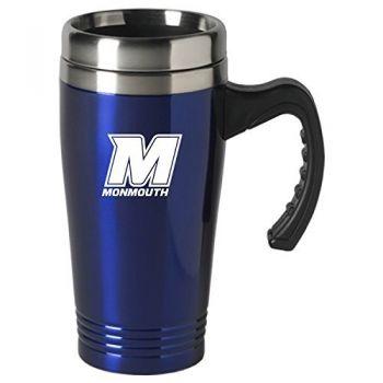 Monmouth University-16 oz. Stainless Steel Mug-Blue