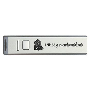Quick Charge Portable Power Bank 2600 mAh  - I Love My Newfoundland Dog