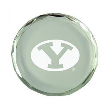 Brigham Young University-Crystal Paper Weight