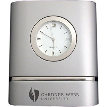 Gardner-Webb University- Two-Toned Desk Clock -Silver