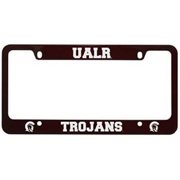 University of Arkansas At Little Rock -Metal License Plate Frame-Burgundy