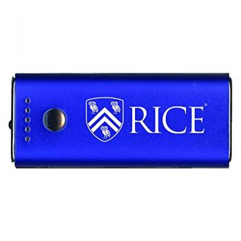 Rice University -Portable Cell Phone 5200 mAh Power Bank Charger -Blue