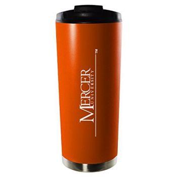 Mercer University-16oz. Stainless Steel Vacuum Insulated Travel Mug Tumbler-Orange