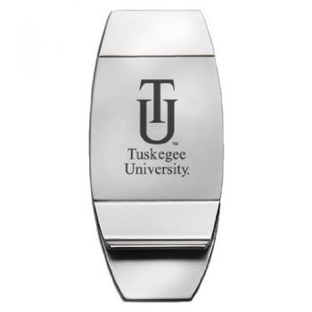 Tuskegee University - Two-Toned Money Clip - Silver