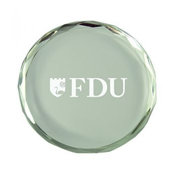 Fairleigh Dickinson University-Crystal Paper Weight
