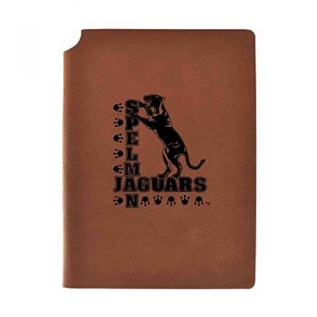 Spelman College Velour Journal with Pen Holder|Carbon Etched|Officially Licensed Collegiate Journal|