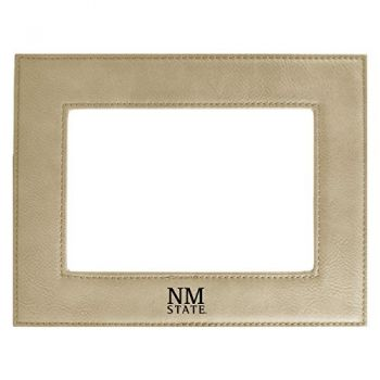 New Mexico State-Velour Picture Frame 4x6-Tan