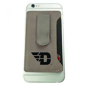 University of Dayton -Leatherette Cell Phone Card Holder-Tan
