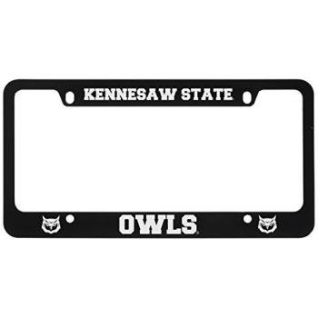 Kennesaw State University -Metal License Plate Frame-Black