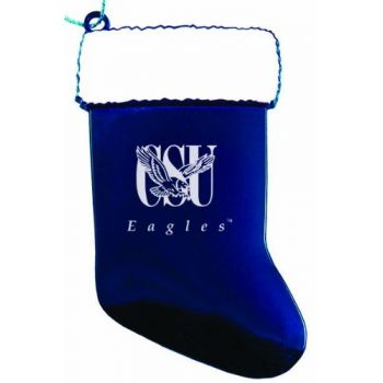 Coppin State University - Christmas Holiday Stocking Ornament - Blue