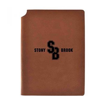 Stony Brook University Velour Journal with Pen Holder|Carbon Etched|Officially Licensed Collegiate Journal|