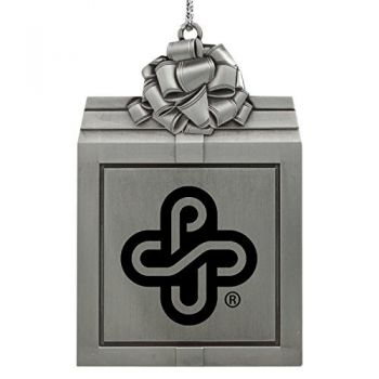 Portland State University -Pewter Christmas Holiday Present Ornament-Silver
