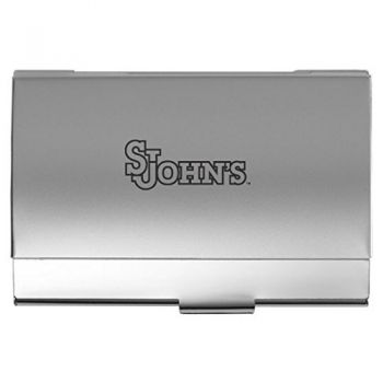 St. John's University - Two-Tone Business Card Holder - Silver