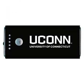 University of Connecticut-Portable Cell Phone 5200 mAh Power Bank Charger -Black