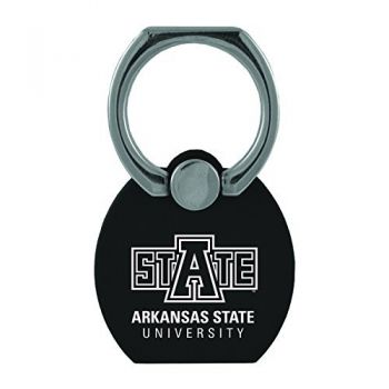 Arkansas State University|Multi-Functional Phone Stand Tech Ring|Black