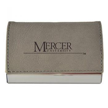 Velour Business Cardholder-Mercer University-Grey