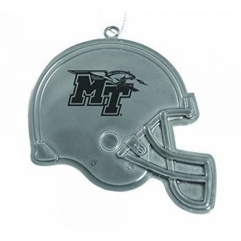 Middle Tennessee State University - Chirstmas Holiday Football Helmet Ornament - Silver