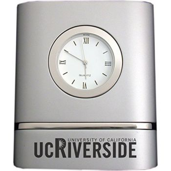 University of California, Riverside- Two-Toned Desk Clock -Silver