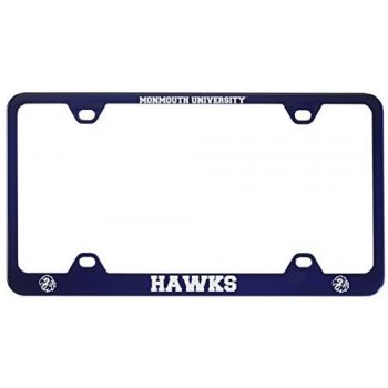 Monmouth University -Metal License Plate Frame-Blue