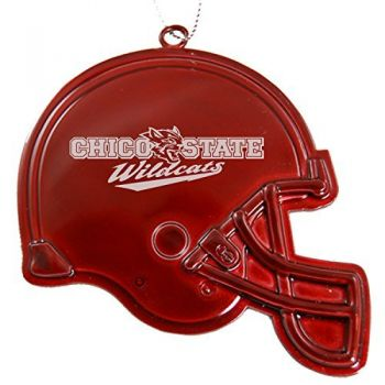 California State University, Chico - Christmas Holiday Football Helmet Ornament - Red
