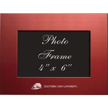 Southern Utah University - 4x6 Brushed Metal Picture Frame - Red