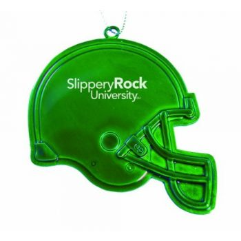 Slippery Rock University of Pennsylvania - Christmas Holiday Football Helmet Ornament - Green