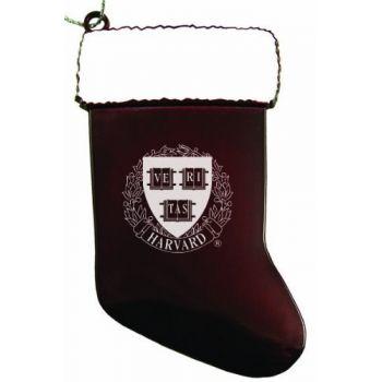 Harvard University - Christmas Holiday Stocking Ornament - Burgundy