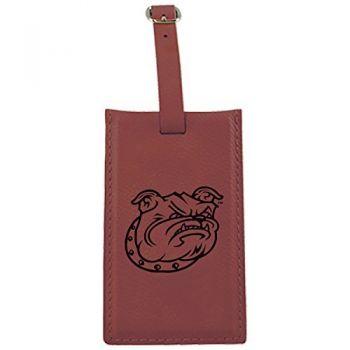 Bryant University -Leatherette Luggage Tag-Burgundy