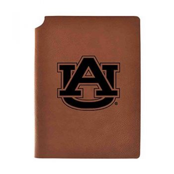Auburn University Velour Journal with Pen Holder|Carbon Etched|Officially Licensed Collegiate Journal|