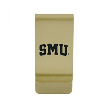 Slippery Rock University|Money Clip with Contemporary Metals Finish|Solid Brass|High Tension Clip to Securely Hold Cash, Cards and ID's|Silver