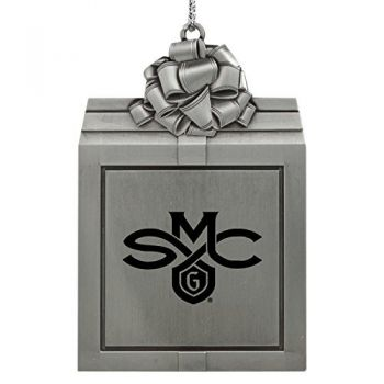 Saint Mary's College of California -Pewter Christmas Holiday Present Ornament-Silver