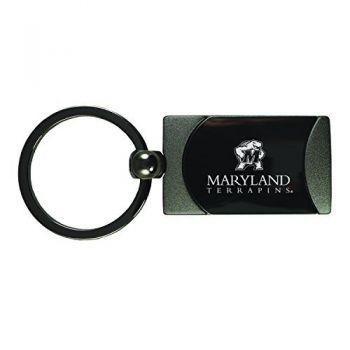 University of Maryland-Two-Toned Gun Metal Key Tag-Gunmetal