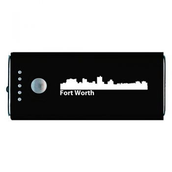 Quick Charge Portable Power Bank 5200 mAh - Fort Worth City Skyline