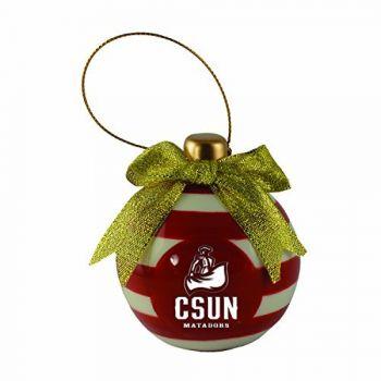 California State University, Northridge -Christmas Bulb Ornament