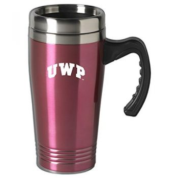 University of Wisconsin-Platteville-16 oz. Stainless Steel Mug-Pink