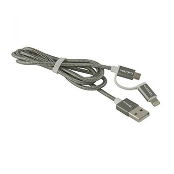 Wofford College-MFI Approved 2 in 1 Charging Cable