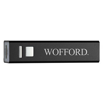 Wofford College - Portable Cell Phone 2600 mAh Power Bank Charger - Black