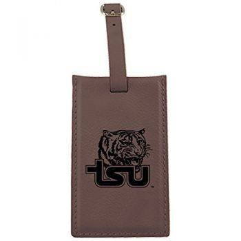 Tennessee State University -Leatherette Luggage Tag-Brown