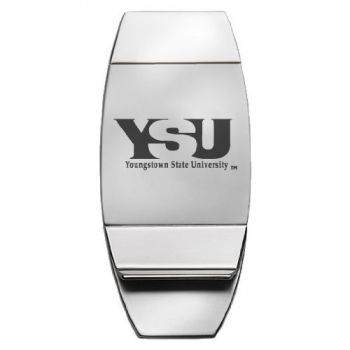 Youngstown State University - Two-Toned Money Clip - Silver