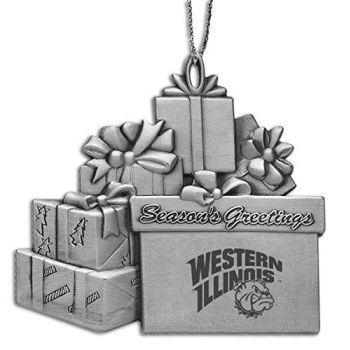 Western Illinois University - Pewter Gift Package Ornament