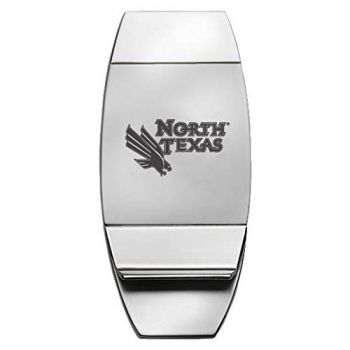 University of North Texas - Two-Toned Money Clip - Silver