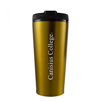 Canisus College -16 oz. Travel Mug Tumbler-Gold