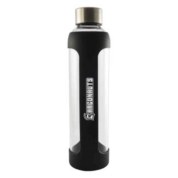 University of West Florida-Glass Water with Silicone Sleeve-20 oz.-Black
