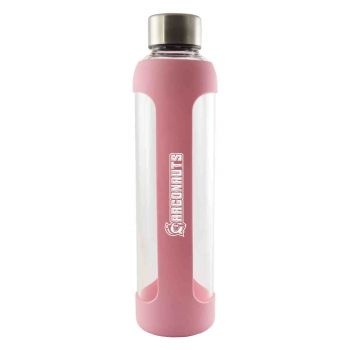 Western Florida University-Glass Water with Silicone Sleeve-20 oz.-Pink