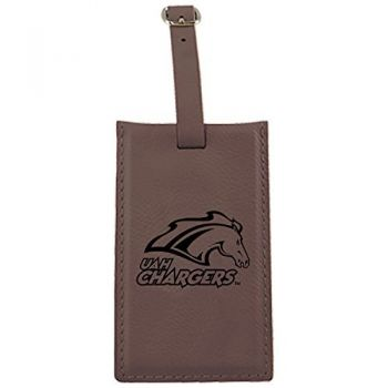 University of Alabama in Huntsville -Leatherette Luggage Tag-Brown