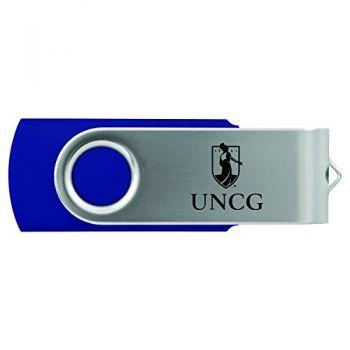 University of North Carolina at Greensboro-8GB 2.0 USB Flash Drive-Blue