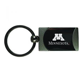 University of Minnesota -Two-Toned Gun Metal Key Tag-Gunmetal