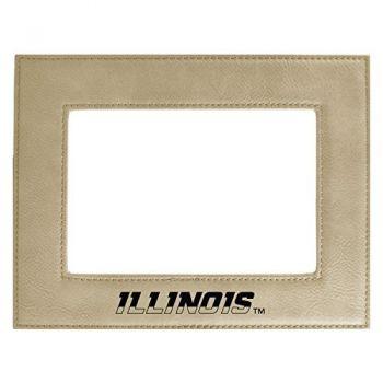 University of Illinois-Velour Picture Frame 4x6-Tan