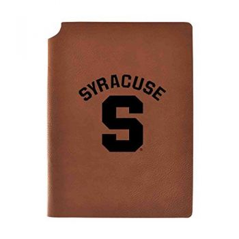 Syracuse University Velour Journal with Pen Holder|Carbon Etched|Officially Licensed Collegiate Journal|