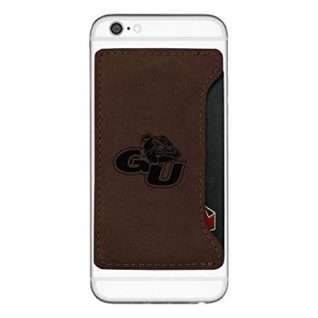Gonzaga University-Cell Phone Card Holder-Brown